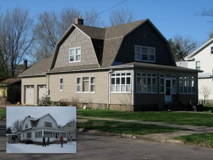 Before after exterior home makeovers liberty exteriors for Norman rockwell siding
