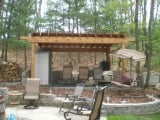 12x16 Cedar Pergola w/ Tongue & groove ceiling with rubber roof - Altoona